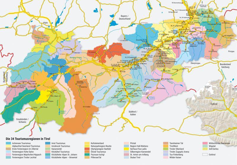 Tirol Map Stock Photos Tirol Map Stock Images Alamy